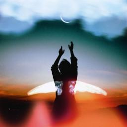 freetoedit fallenangel heaven hell fallen ircdancinginthemoonlight dancinginthemoonlight silhouette