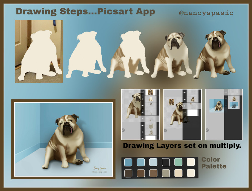 To see the finished drawing tap URL: https://picsart.com/i/320466707354201  #drawingstep #picsart #drawnonpicsart #layers #dog #freetoedit