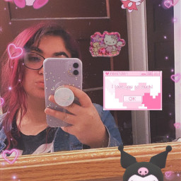 kawaiiaesthetic sanrio egirl mirrorselfies freetoedit