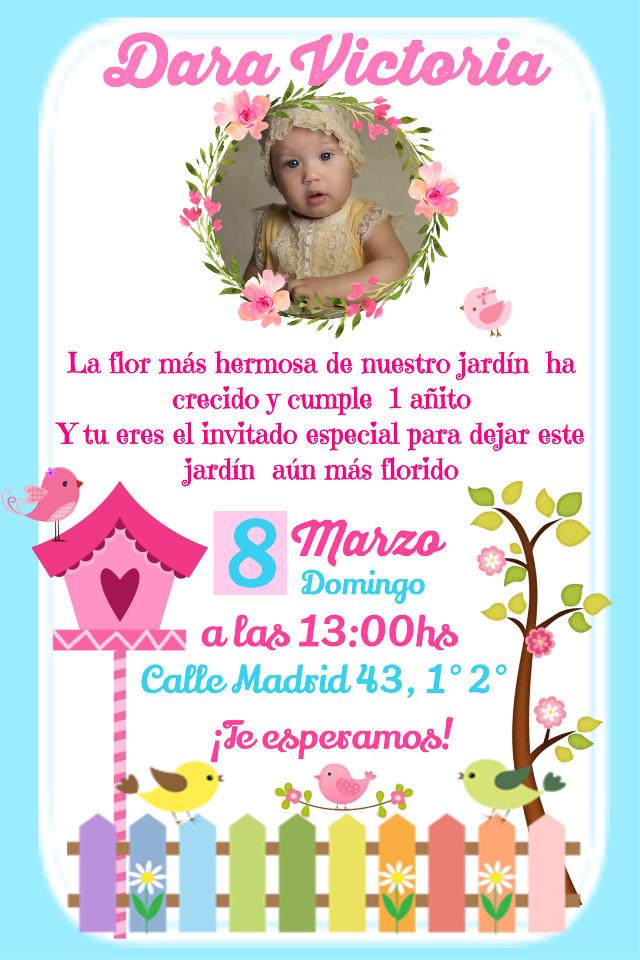 #freetoedit #invitacion #invitations #party #birthday #cumpleaños #jardimencantado
