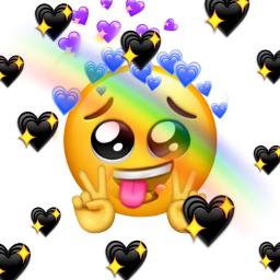 freetoedit emoji rainbow stickermania heartsticker ecemojibackgrounds emojibackgrounds