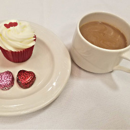 sweet treats coffee cupcake valentine