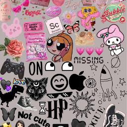 freetoedit aesthetic tumblr pink black