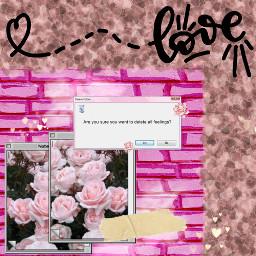 freetoedit love pink heart computer