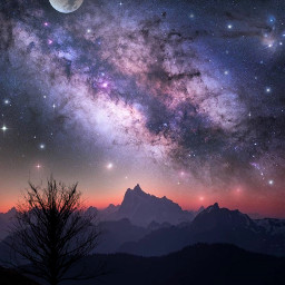 astronomy spacetime space spaceart nightscape freetoedit