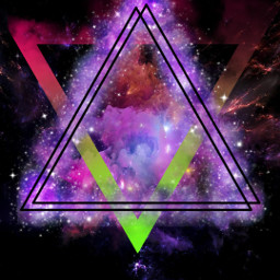 freetoedit triangles galaxy space neon