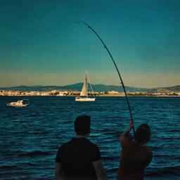 sea fishing summer sailboat blue