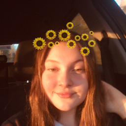 athstetic goldenhour sunflowercrown freetoedit