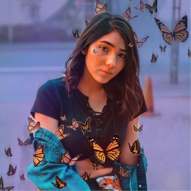 #freetoedit #aesthetic #butterfly #butterflies #butterflyaesthetic #purple #orange