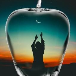 freetoedit silhouette ircdancinginthemoonlight