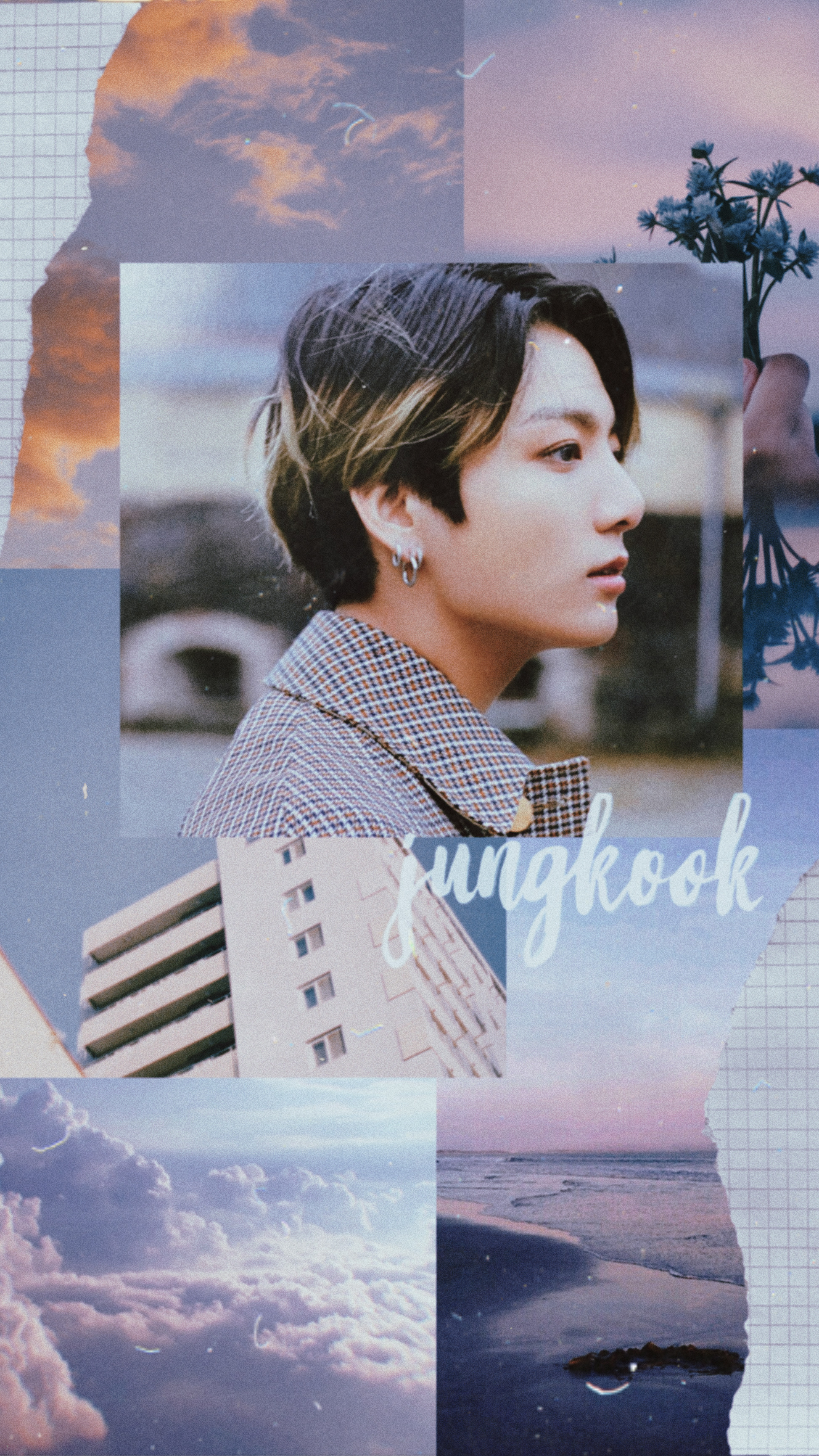 Freetoedit Wallpaper Aesthetic Jungkook Bts Collage
