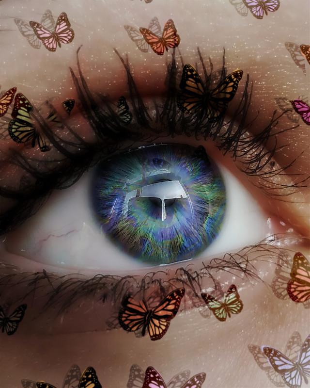 🍃💜 #freetoedit #eye #butterfly