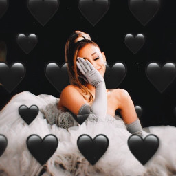 ari grande ariannagrande blackhearts heartbackground freetoedit