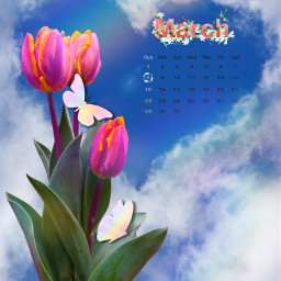 freetoedit march flowers srcmarchcalendar marchcalendar