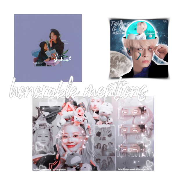 Thesw are the honorable mentions, you each get 1 request! Request in the comments of this post. These edits were made by: @ririeditions  @seoktea- @bubblyxtae