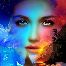 myoriginalwork originalart conceptart womanportrait colorful srcheadintheclouds