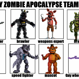 fnaf zombieapocalypseteam toybonnie nightmare foxy freetoedit