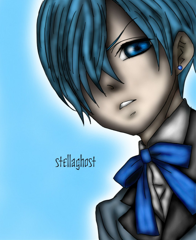 After i drew him adult, now I made him his real age, the one he has in the manga, 13. So here it is #cielphantomhive again. :D  #Anime #Art #kuroshitsuji #blackbutler #manga #portrait #digital #realistic #draw #drawing  [Reference: manga page]