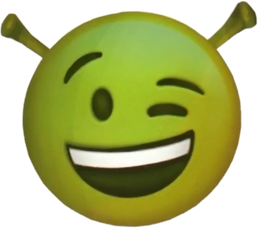 Shrek Emoji Funny Wink 30 Sticker By Yeah