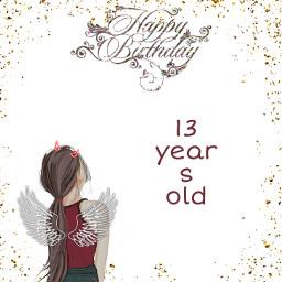freetoedit birthdays stella 13yearsold angel