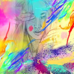 freetoedit happyholi holi challenge picsart ecincolorsofholi incolorsofholi