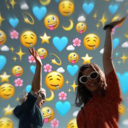 bestfriends emojibackground freetoedit ircsoakingupthesun soakingupthesun