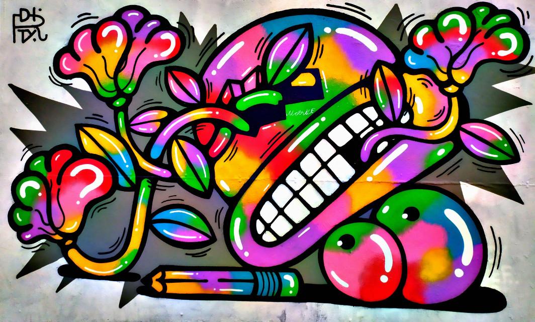 #freetoedit #picsart #pic #graffiti #graffitiart #photography #colorful #dibujo