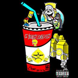 freetoedit bartsimpson lemonade soda grimeart screammask