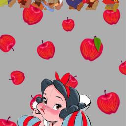 disney princess apples 7dwarfs freetoedit