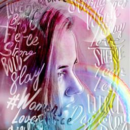 freetoedit women rainbow rcwomensday womensday IWD2020 WomensDayReplay