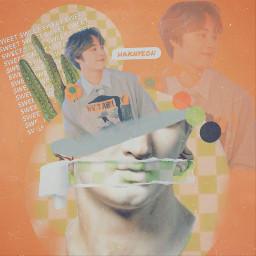 juhaknyeon green kpop orange aesthetic freetoedit