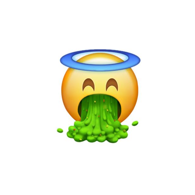 Anjo vomitando emoji #freetoedit
