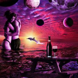freetoedit sea beach planets winelovers