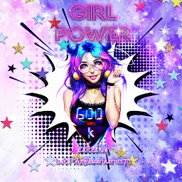 girlpower picsartchallenge cartoonizer chica stars srcgirlpower freetoedit