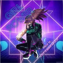 girlpower picsartchallenge chica neonportal neon srcgirlpower freetoedit