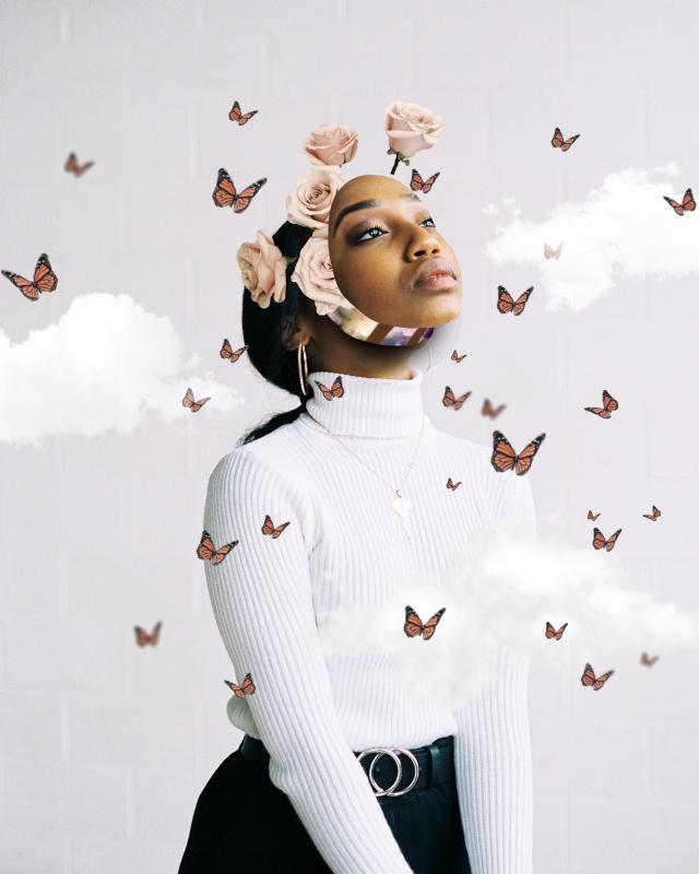 Hola!!!😘 #freetoedit #myedit #manipulation #editedbyme #madewithpicsart #creative #creativity #picsart  #be_creative #woman #artisticportrait #girl #butterflies #butterfly #araceliss #clouds