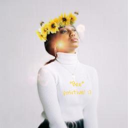 freetoedit bees savethebees sunflowers sunflowercrown