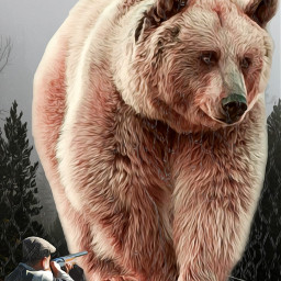freetoedit bear fear danger ecgiantanimals giantanimals