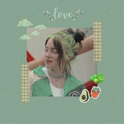 freetoedit billieeilish green aesthetic vintage
