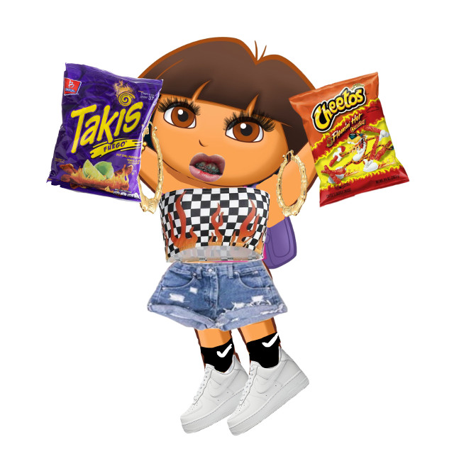 hot cheeto girl dora ✌️🤣 . #ghetto #dora #hotcheetogirl #takis #hotcheetos #edit  #freetoedit
