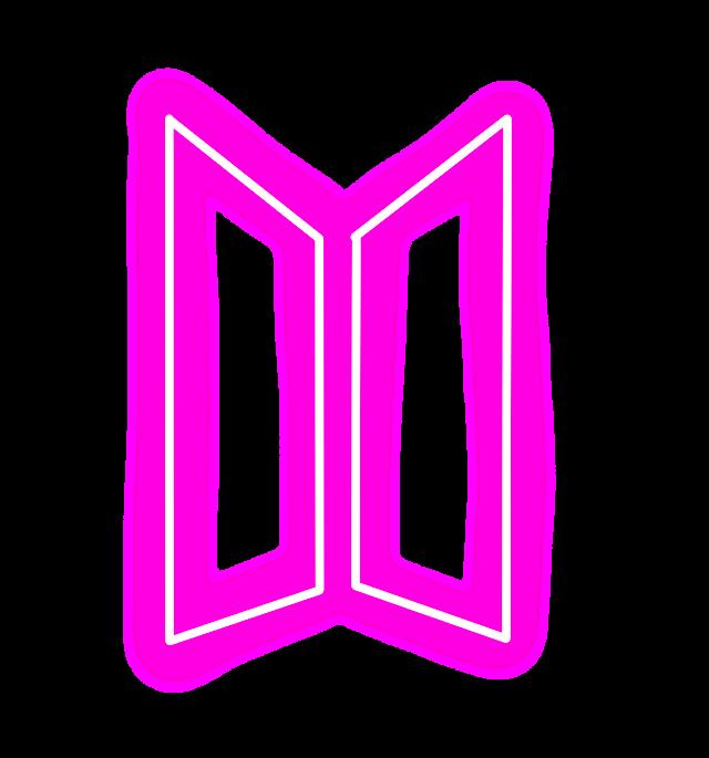 #Bts #BtsLogo #KpopLogo #Kpop #Neon #Pink