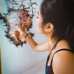 freetoedit art painting girl diny