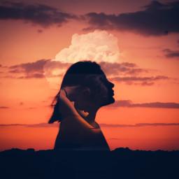 unsplash freetoedit clouds sad girl