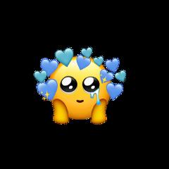 freetoedit emoji blue oceaneyes hearts