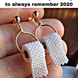 freetoedit earrings jewelry tp toiletpaper