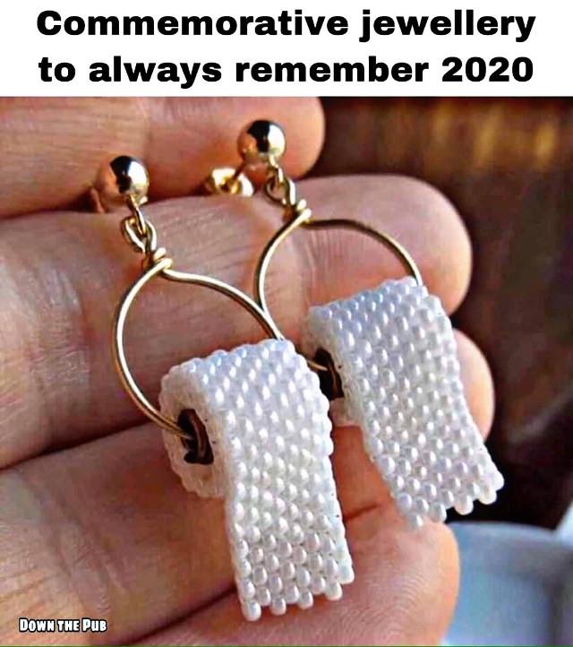 #freetoedit #earrings #jewelry #tp #toiletpaper #lol #meme #2020 #commemorative #funny #gag #gift