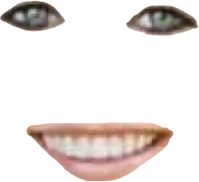 face creepy eyes mouth smile freetoedit