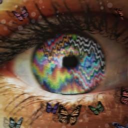 freetoedit trippy eye rainbow