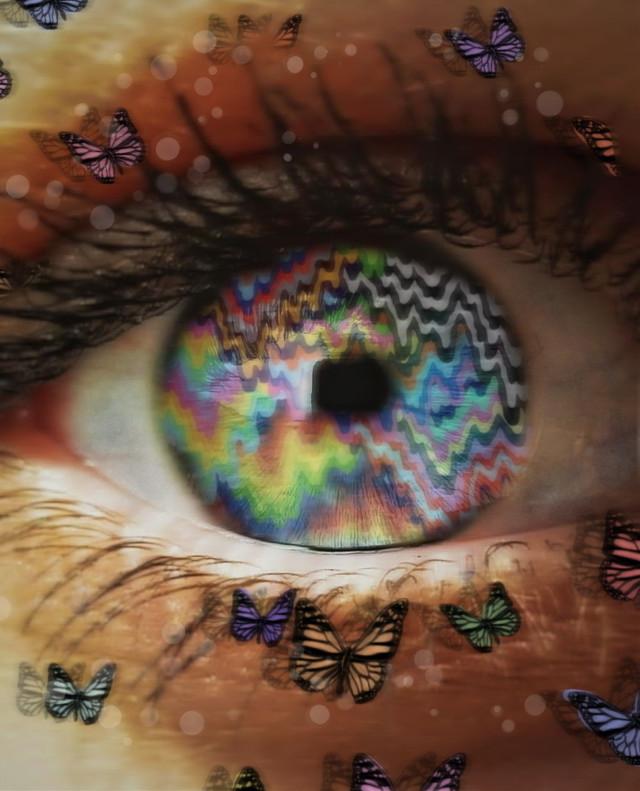 👁 #freetoedit #trippy #eye #rainbow