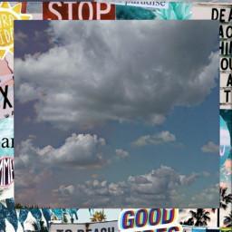 freetoedit clouds sky polaroid